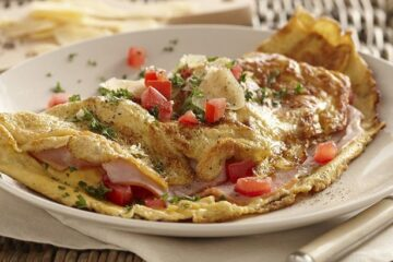 Chicken and cheese stuff omlette