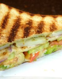 Veg club grill sandwich